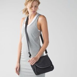 Lululemon Party Om crossbody brushed cotton bag